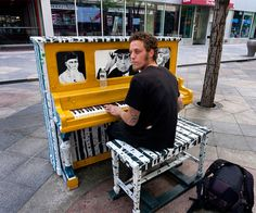 16th Street Mall, Denver, USA, 2011- this pianist looks very serious