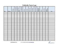 Vehicle Maintenance Log Template Fresh Vehicle Care Log Printable Pdf form for Car Maintenance Schedule Templates, Checklist Template, Templates Free, Vehicle Maintenance Log, Auto Maintenance, Car Care Tips, Vehicles, Pdf