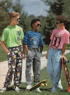 Hahaha! I remember boys wearing stuff like this.