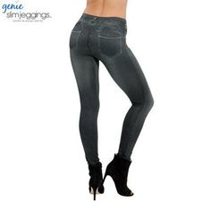 women's slim leggings blue and black jean girls jeggings with 2 real pockets leggings