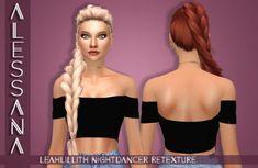 Alessana Sims: LeahLillith`s Nightdancer Hair Retextured - Sims 4 Hairs - http://sims4hairs.com/alessana-sims-leahlilliths-nightdancer-hair-retextured/