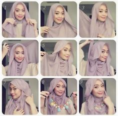 Tutorial Hijab Pashmina Sifon Modis dan Terbaru