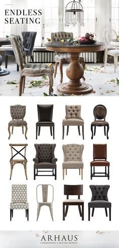 All of our dining chairs all in one place. Take your pick. @Arhaus