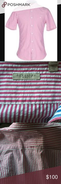 Burberry Brit Men's Shortsleeve Shirts Burberry Button Down Burberry Shirts Dress Shirts