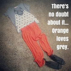 Orange Loves Grey  #colourtheory #style