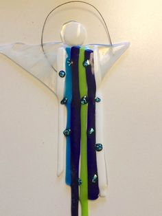 Toothbrush Holder, Fused Glass, Personalized Items