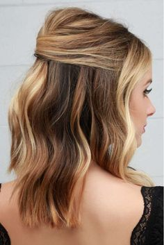 Holiday Hairstyles That Pump Up the Volume: Half-Up Party Lob