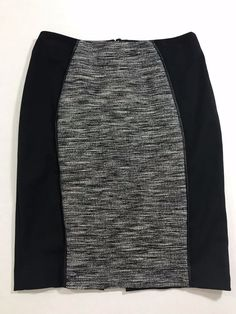 81c0f26abe74bd H M Womens Gray and Black Pencil Skirt size 4 Free shipping  1030  HM   StraightPencil