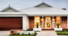 Explore our range of award winning home designs here. Choose your dream home design now with Dale Alcock. Available in Perth or the South-West. Perth, Livable Sheds, Recycled Brick, Modern House Facades, House Elevation, Front Elevation, Australian Homes, Display Homes, Facade House