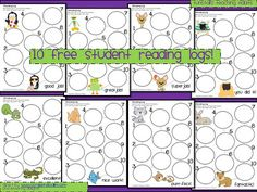 Cute reading log forms...printable