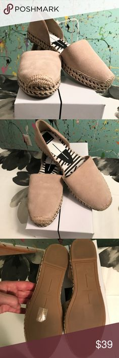 DOLCE VITA 👡Collette Flat 👡 👡 Tan suede upper 👡 Woven espadrille sole accented with black piping Dolce Vita Shoes Espadrilles