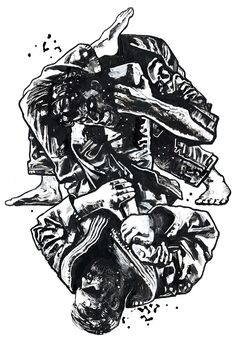 Brazilian Jiu-Jitsu ARMBAR artwork by Gian Galang : if you love #MMA, you'll love the #UFC & #MixedMartialArts inspired fashion at CageCult: http://cagecult.com/mma