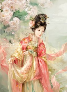 not geisha - chinese style artwork! i know the difference!