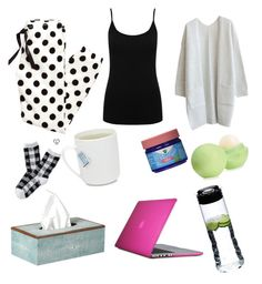 """""""sick day essentials"""" by jeneva-tagnipez on Polyvore featuring M&Co, Aéropostale, OKA, Eos, Speck and Riedel"""