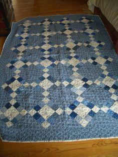 Blue quilt  4 patches.