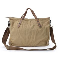 Gootium 31249 Canvas Genuine Leather Vintage Shoulder Bag None 145181cb2a782