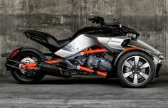 2015 Can-Am Spyder F3 Can-Am's all new 2015 Can-Am Spyder F3 Reverse trike (three-wheeler motorcycle). The new 2015 Can-Am Spyder F3 is powered by a 3 cylinder Rotax Engine coupled to a 6 speed transmission with reverse. New 2015 Can-Am Spyder F3 top speed 115 MPH. The new Spyder F3 features Can-Am's signature Y-frame, and the vehicle's stability system is excellent at high speed, Brembo braking system, six spoked alloy wheels, fox suspensions, dynamic power steering or the major features of…