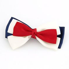 Display Red Sweet Fashion Multilayer Bow Tie Alloy Hair clip hair claw