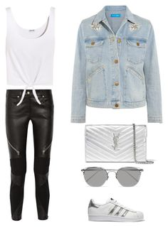 """"""""""" by aminamor ❤ liked on Polyvore featuring Givenchy, Splendid, M.i.h Jeans, adidas Originals, Linda Farrow and Yves Saint Laurent"""
