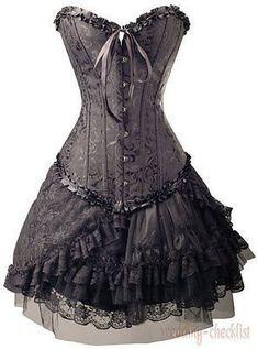 Gothic Black Size s Brocade Corset Lolita Skirt Outfit Clubwear Punk Set WC Gothic Dress, Gothic Outfits, Gothic Lolita, Gothic Corset, Sandro, Clubwear, Black Corset Top, Thing 1, Skirt Outfits