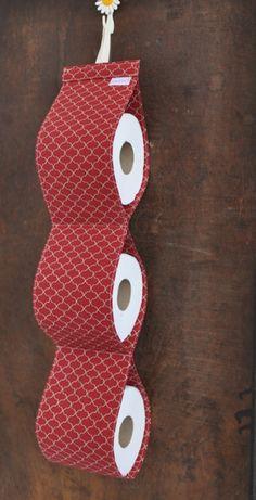 Confira aqui - Porta Papel Higiênico Colmeia - Vermelho - Flô di Pá