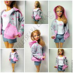 Как сшить толстовку с капюшоном для куклы Барби: публикации и мастер-классы – Ярмарка Мастеров