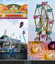 Location idea: at a fair or carnival!  These are usually in town around January-February.