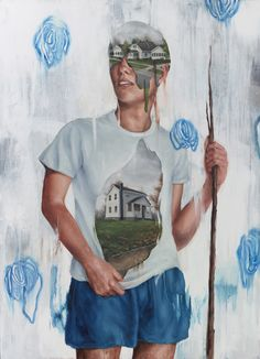 Pat Perry: Senseless and Standing Still. Oil on Wood Panel