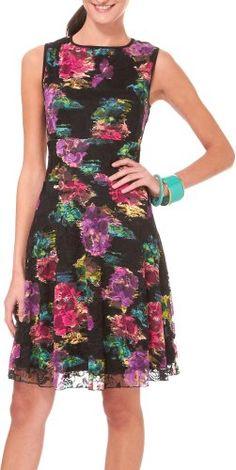 Tiana B Women's Waterlily Printed Lace Dress $50.00