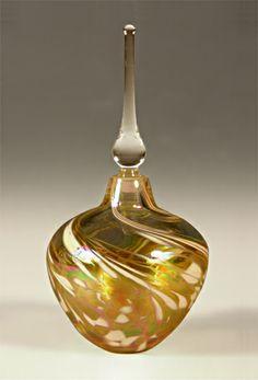 Round Perfume Bottle: Mark Rosenbaum: Art Glass Perfume Bottle - Artful Home