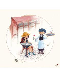 """Carte d'Art """"Paris, le Bistrot"""""""