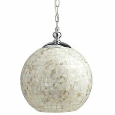 Mother-of-Pearl Pendant Lamp