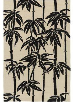 Bondi Black Tropical Outdoor Rug