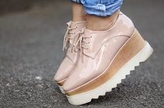 nude platform oxford shoes | Sandra Bendre