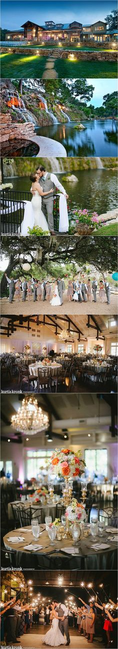 Gorgeous Waterfall Wedding Venue in Spring Branch, TX  - San Antonio and Austin Wedding Venue. #waltersweddingestates #weddings #waterfall