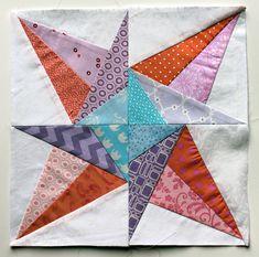 paper pieced star quilt block