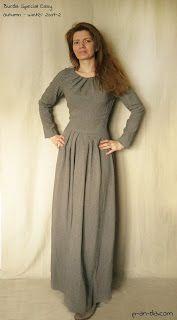 P-an-da Вяжу, шью, валяю - вытворяю!: Весенне - осеннее длинное платье (оно же пара для забавных ботиночек :)