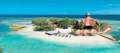 Private island at the Sandals Royal Caribbean Resort... I have been there and that restaurant is yummy!