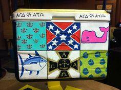 logo montage confederate flag ATO ATΩ crest TFM southern tide vineyard vines cooler side