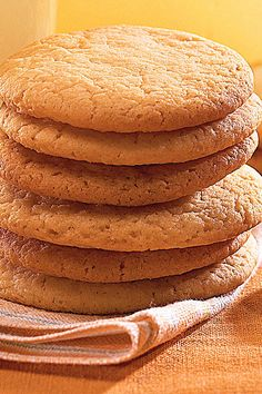 Tea Cakes - Host a British-Style Tea - Southernliving. Southern tea cakes are all sugared-butter goodness! These buttery cookies are a classic Southern twist on the breadier British version.  Recipe:Tea Cakes