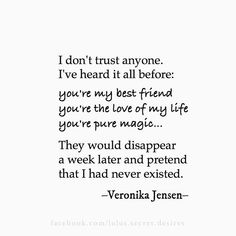 No one seems to fight for love or true friendship anymore... I miss my tribe of Lovers...and Fighters...not the Give Uppers  • Veronika Jensen • Lulu's Secret Desires • #love #friends #trust #quote #quotes #trustnoone #writing #poetry #lulussecretdesires #veronikajensen