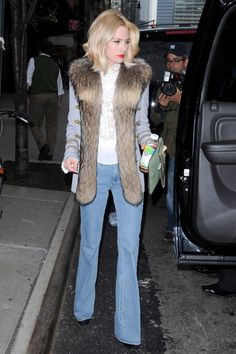 January Jones in MiH Marrakesh jeans- head to toe... fab
