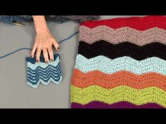 From Knitting Daily TV with Vickie Howell Episode #1202 Playing with Shapes --Loose Ends: How To Do a Chevron Using Color