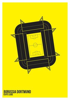 Borussia Dortmund - Football Stadium A3 Art Print on Etsy, $31.55