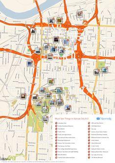 Printable tourist map of Kansas City