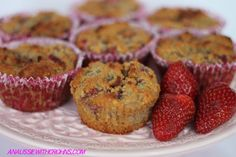 Strawberry  White Chocolate Muffins #justeatrealfood #anaussiewithcrohns