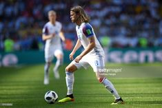 Birkir Bjarnason of Iceland runs with the ball during the 2018 FIFA World Cup Russia group D match between Argentina and Iceland at Spartak Stadium on June 2018 in Moscow, Russia. June 16, Moscow Russia, Fifa World Cup, Iceland, Running, Group, Sports, Pictures, Argentina