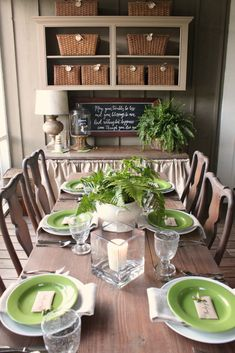 March has come in like a lion all over most of the United States. Hopefully it will go out like a lamb, and now here we are already smack dab in the middle with lucky St. Patrick's Day. If you like the color green then I hope you will LOVE today's post! :) I've set our table for our St.…