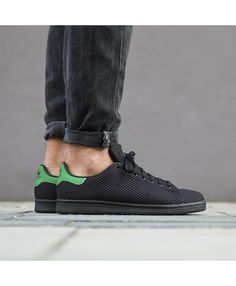 pretty nice 21f1b a40c1 Adidas Australia Originals Black Green Stan Smith Trainers Stan Smith  Trainers, Stan Smith Shoes,