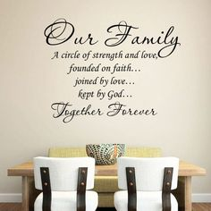 Our Family Self-Adhesive Wall Decal